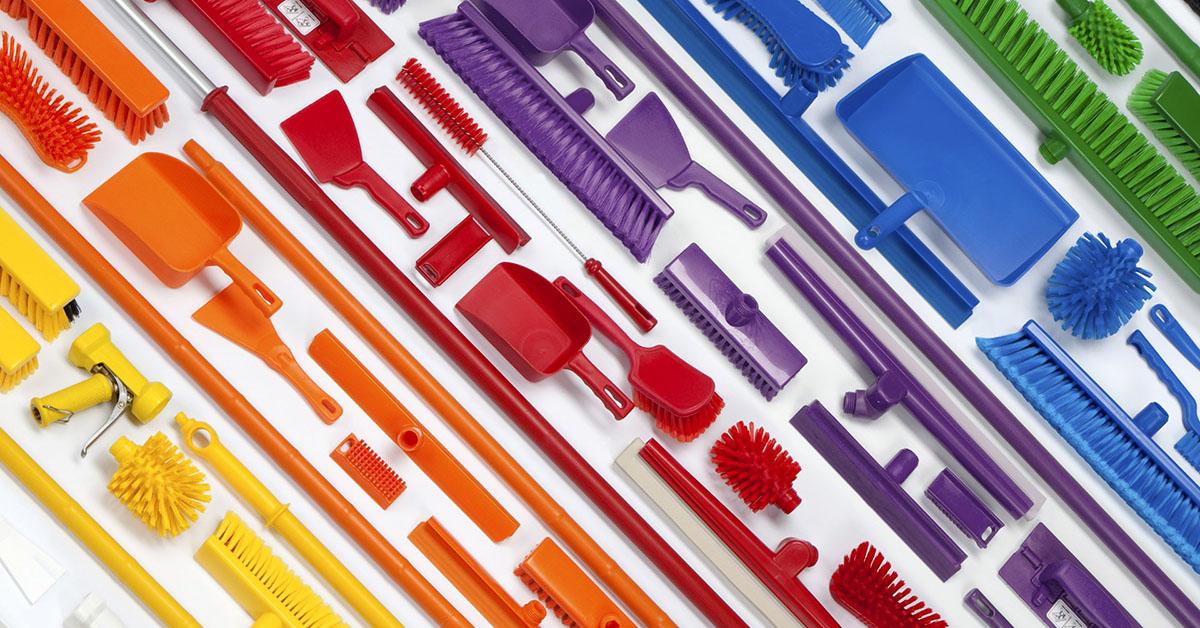 utiles de limpieza código de colores - 7 razones GENIALES para tener útiles de limpieza codificados por COLORES