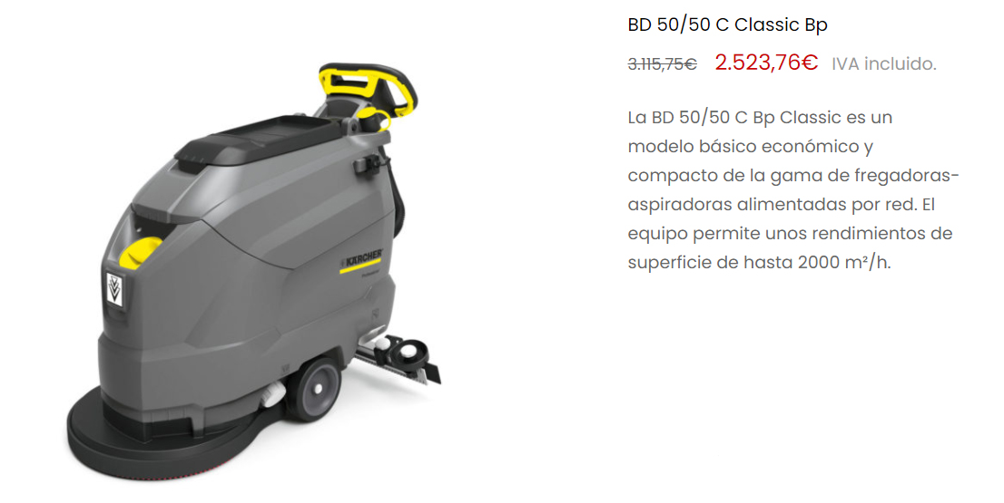 fregadora de suelos para ayuntamiento - Productos para ayuntamientos